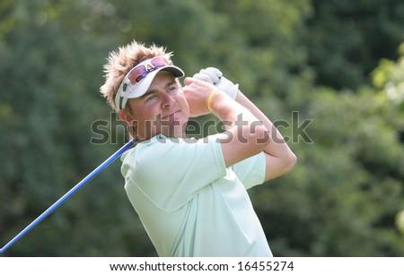 LYON - GOLF DU GOUVERNEUR - FRANCE - JULY 05 : Andrew Tampion, australia, Trophee du golf club de Geneve, august 17, 2008, Geneva, switzerland, European challenge Tour.