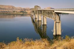 Lyons Ferry Bridge Snake River Washington State. The Lyons Ferry Bridge spanning the Snake River in Eastern Washington near Lyons Ferry State Park