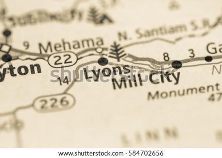 Lyons Oregon Map.Free Photos Map Of Lyon Avopix Com