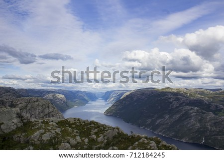 lysebotn forsand   norway. view ...