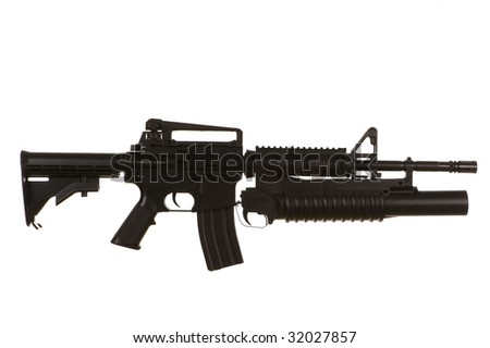 M4 Assault Rifle with grenade launcher on a white background