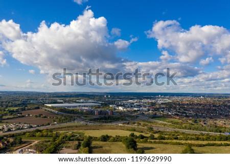 M4 Motorway Junction 11 aerial close to Reading, UK #1199629990
