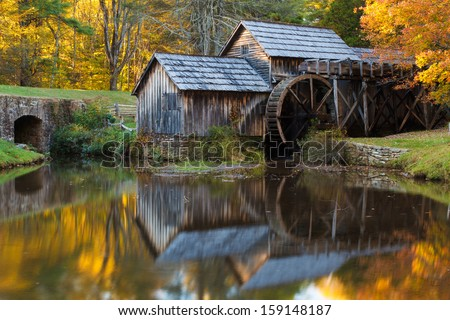 mabry mill  blue ridge parkway...