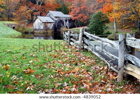 Mabry Mill, Meadows of Dan, Virginia in Autumn Horizontal