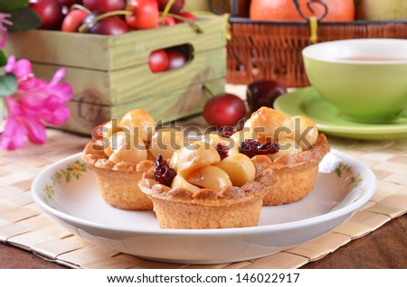 Macadamia nuts tart   - stock photo