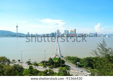 macao city and blue sky