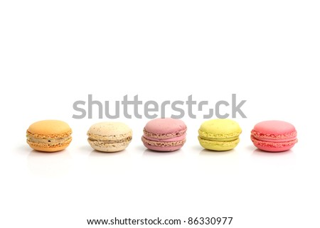 Macaron isolated in white background