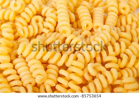 Macaroni isolated on white background