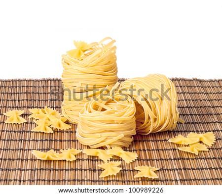 macaroni on the mat background