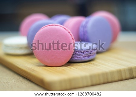 Macarons ,French macaroon is a sweet meringue-based confection made with egg white, icing sugar, granulated sugar, almond powder