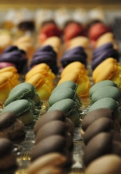 macaroons in a spainish shop forsale