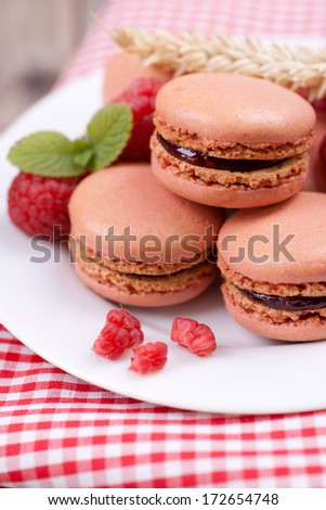 Macaroons on a dish #172654748
