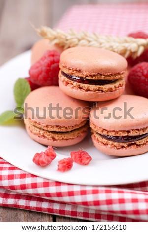 Macaroons, raspberry #172156610