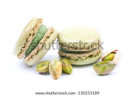 Macaroons with pistachio