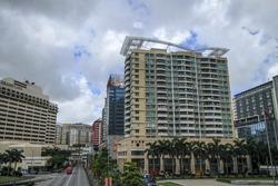 MACAU , CHINA , JULY 2: The building hotel ,casino and restaurant in Macau , China on July 2 2016.