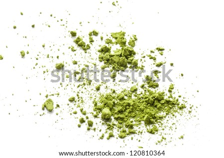 Maccha, dried powder green tea of asian traditional beverage