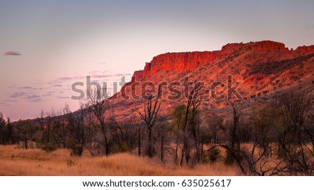 MacDonnell Ranges at sunset, Northern Territory, Australia #635025617