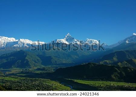 Machapuchare Overview from Sarangkot (Pokhara, Nepal)