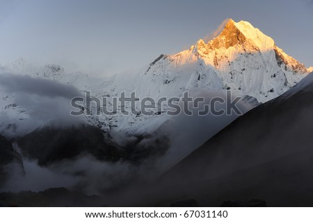 Machhaphuchhare  (Fish Tail), is a mountain in the Annapurna Himal of north central Nepal. It is revered by the local population as particularly sacred to the god Shiva.