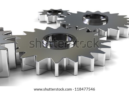 Machine Gears - Isolated on white background