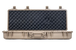 Machine gun box Soft Secure Storage Case in isolated
