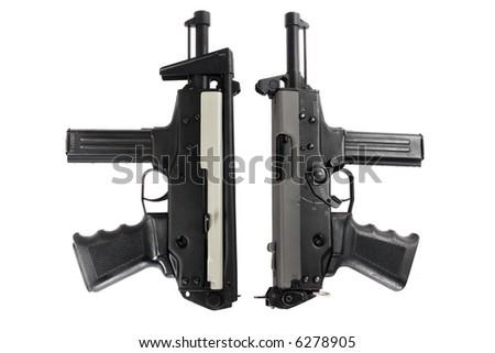 Machine guns. Isolated on white.