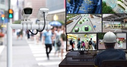 Machine Learning analytics identify person technology in smart city , Artificial intelligence ,