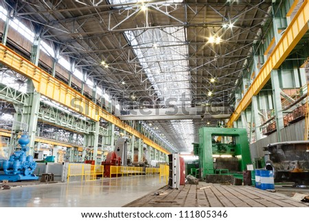 Machine shop of metallurgical works