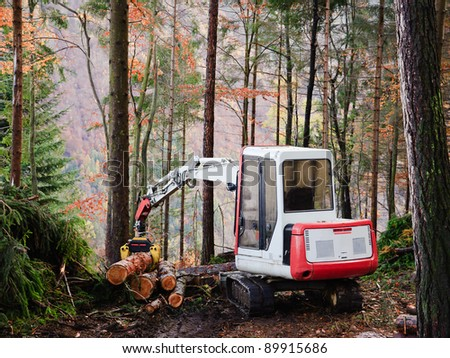 Machine tool operator to work in the forest
