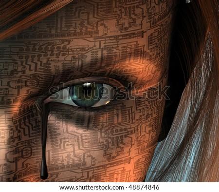 Machine Woman shed a tear