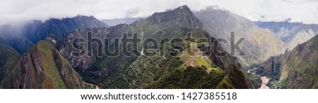 Machu Picchu from Huayna Picchu panorama