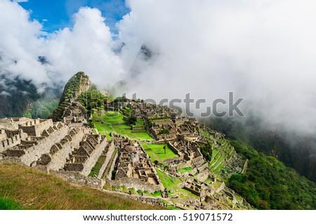 Machu Picchu. Lost city of Inkas in Peru mountains. #519071572