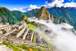 Machu Picchu, Peru - Ruins of Inca Empire city, in Cusco region, amazing place of South America.