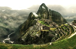 Machu Picchu - The most famous lost city with the river Urubamba located near Cuzco/Machu Picchu, The lost city in Peru/Machu Picchu