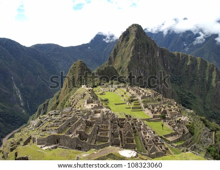 Machu Picchu, the pre-columbian city of Inca