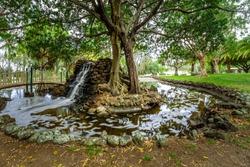 Macintosh Island park in Surfers Paradise, Queensland, Australia