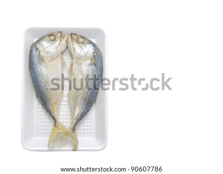 Mackerels steamed in a pack