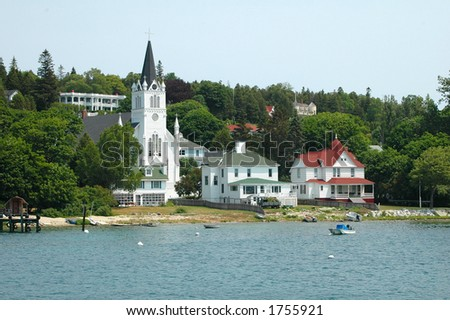 Mackinac Island Coastline - stock photo