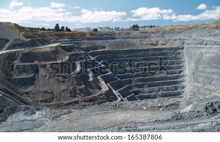 Macraes Flat mine, opencast gold mine, New Zealand