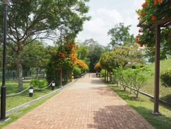 MacRitchie Reservoir entrance. which is Singapore's oldest reservoir completed in 1868