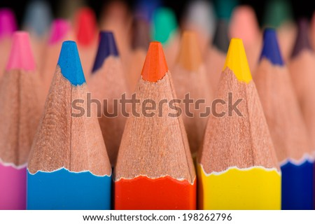 Macro background of the pencil as an element for design High resolution