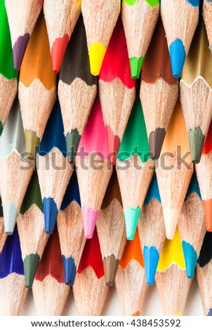 Macro background of the pencil as an element for design. High resolution. - Shutterstock ID 438453592