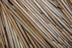 Macro background of toothpicks isolated, close up