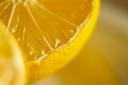 macro blurred lemon view, food background, close up