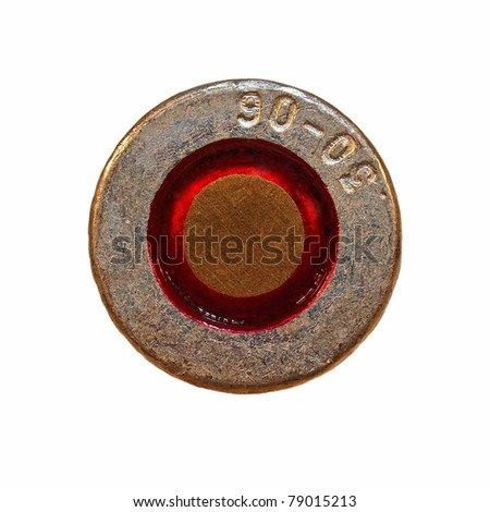 Macro bullet isolated on white