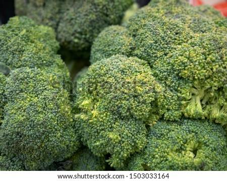 Macro close - up of broccoli  green cauliflower closeup photo closeup #1503033164