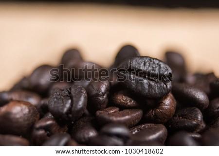 Macro coffee bean. #1030418602