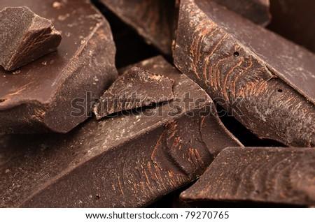 macro cracked chocolate detail