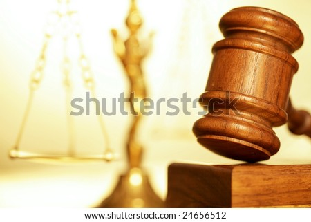 Macro detail of a legal concept