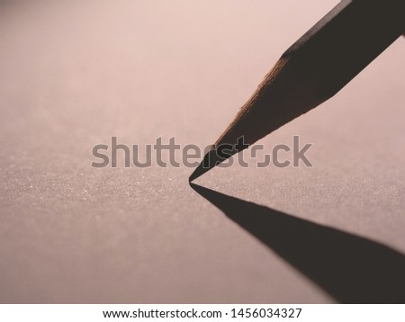 Macro detail of a pencil graphite on a white background #1456034327
